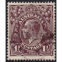 1&1/2d Black-Brown, Large Multi Wmk, variety 1R50, 1st State, FU