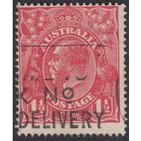 1&1/2d Red, Single Wmk, variety 21R19, GU