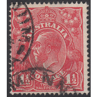 1&1/2d Red, Single Wmk, variety UCV-H27, GU