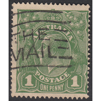 1d Green, Single Wmk, variety 7/55, GU