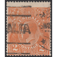 2d Orange, Single Wmk, variety UCV BXII-11 GU