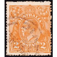 2d Orange, Single Wmk, variety UCV BXIV-29 FU