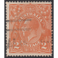 2d Orange, Single Wmk, variety UCV BXIV-36 GU