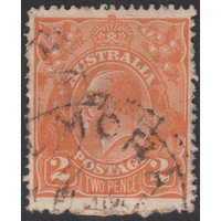 2d Orange, Single Wmk, variety UCV BXIX-1 GU