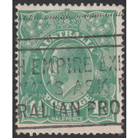 1&1/2d Green, Single Wmk, variety 15L39, 1st State, GU