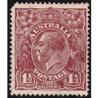 1&1/2d Brown, Large Multi Wmk, variety 5AL59, GU