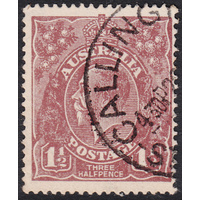 1&1/2d Brown, Large Multi Wmk, variety 7R42, FU