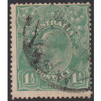1&1/2d Green, Single Wmk, var 16L8, 2nd State, GU