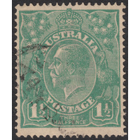 1&1/2d Green, Single Wmk, var 14R46, FU