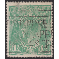 1&1/2d Green, Single Wmk, var 16R47, GU
