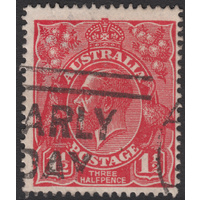1&1/2d Red, Single Wmk, UCV H-196, GU