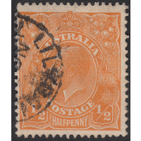 1/2d Orange, Small Multi Wmk, perf 13.5, var 8R3, GU