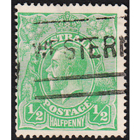 1/2d Green, Single Wmk, var 1R38, GU