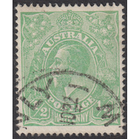 1/2d Green, Single Wmk, var 4R5, 1st State, FU