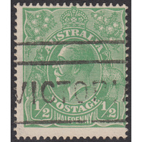 1/2d Green, Single Wmk, var 4R13, GU