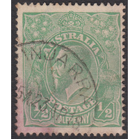 1/2d Green, Single Wmk, var 4R25, GU