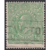 1/2d Green, Single Wmk, var 5L55, GU