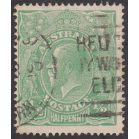 1/2d Green, Single Wmk, var 5L60, GU