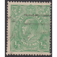 1/2d Green, Single Wmk, var 6R23, 3rd State, GU