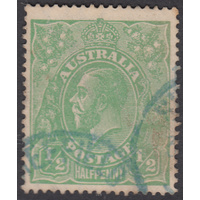 1/2d Green, Large Multi Wmk, var 4L28, FU