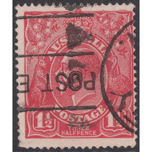 1&1/2d Red, Single Wmk, var 14L6, GU