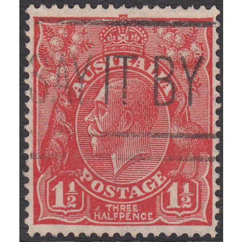 1&1/2d Red, Small Multi Wmk, perf 14, variety 4L1, 1st State, GU