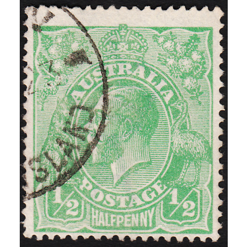 1/2d Green, Single Wmk, var 7R19 FU