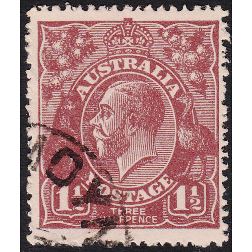 1&1/2d Brown, Single Wmk, var 5AL60, FU