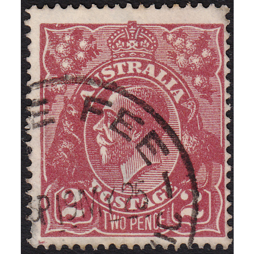2d Red-Brown, Single Wmk, var 16R9, 2nd State FU