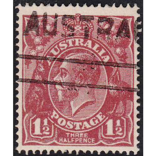 1&1/2d Bright Red-Brown, Single Wmk, var 11L11, GU