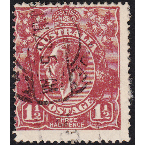 1&1/2d Bright Red-Brown, Single Wmk, var 12R25, 2nd State, FU