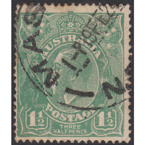 1&1/2d Green, Single Wmk, var 11L49, FU