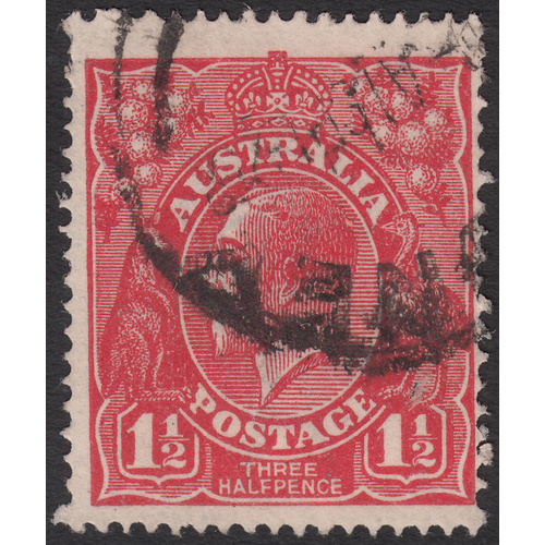 1&1/2d Red, Single Wmk, UCV H-227, GU