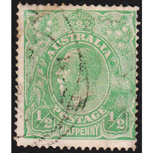 1/2d Green, Single Wmk, var 5R32, FU