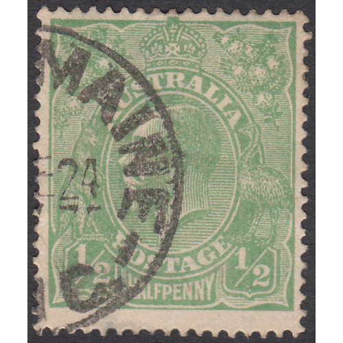 1/2d Green, Single Wmk, var 6L2, GU